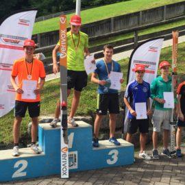 Nicole Hauer und Jakob Kosak beim Deutschlandpokal in Berchtesgaden