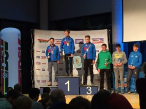 Siegerehrung NK: 1. Platz - David Brückl, 2. Platz - Simon Kosak